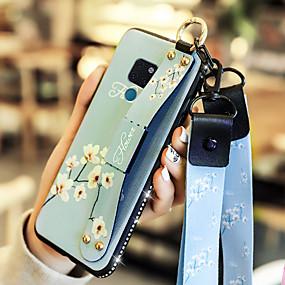 voordelige Huawei Honor hoesjes / covers-geval voor huawei honor 10 / huawei mate 20 met standaard / schokbestendige achterkant bloem zacht pu leer voor huawei y7 prime (geniet van 7 plus) / huawei y9 (2018) (geniet van 8 plus) / huawei mate