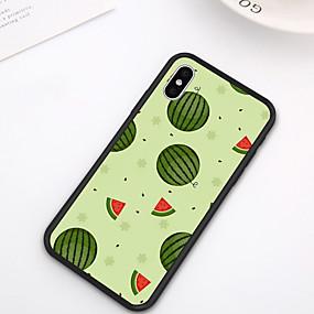 olcso iPhone XR tokok-tok iPhone xs max xr xs x hátsó tok puha borító tpu friss stílus kreatív görögdinnye minta puha tpu iphone 8 plusz 7 plusz 7 6 plusz 6 8
