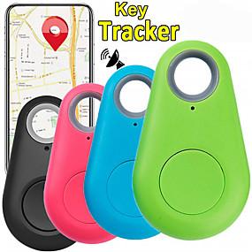 رخيصةأون مستلزمات الحيوانات الأليفة-أطفال قط حيوانات أليفة GPS الياقات محافظ مكتشف للمفتاح مصغرة GPS بلوتوث Smart لون سادة بلاستيك أخضر أزرق زهري