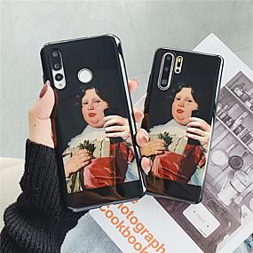 olcso Galaxy S tokok-Case Kompatibilitás Samsung Galaxy Galaxy S10 Plus / Galaxy S10 E IMD / Minta Fekete tok Szexi lány Puha TPU mert S9 / S9 Plus / S8 Plus