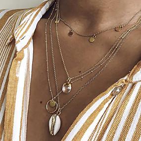 billige Lagvise halskjeder-Dame Halskjede lagdelte Hals Chrome Gull 56 cm Halskjeder Smykker 1pc Til Daglig Skole Gate Ferie Festival