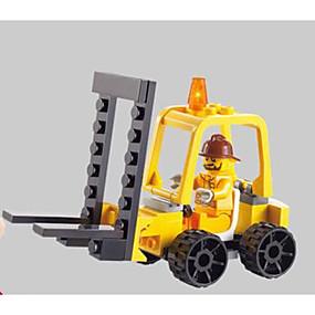 olcso Játékok & hobbi-SHIBIAO Építőkockák Építési készlet játékok Fejlesztő játék 37 pcs Járművek Katonai Villás targonca összeegyeztethető Legoing Új design DIY Klasszikus Villás targonca Fiú Lány Játékok Ajándék