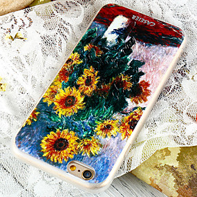 voordelige Galaxy S7 Edge Hoesjes / covers-hoesje Voor Samsung Galaxy S8 Plus / S8 / S7 edge Waterbestendig / Stofbestendig / Patroon Achterkant Bloem TPU