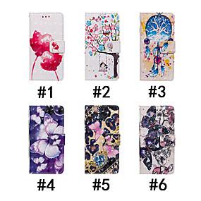 voordelige Galaxy J7 Hoesjes / covers-hoesje Voor Samsung Galaxy J7 Prime / J7 (2017) / J7 (2016) Portemonnee / Kaarthouder / met standaard Volledig hoesje Vlinder / Boom / Bloem Hard PU-nahka