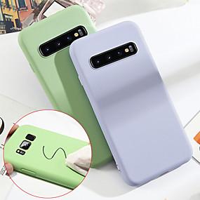 voordelige Galaxy S7 Hoesjes / covers-hoesje Voor Samsung Galaxy S9 / S9 Plus / S8 Plus Schokbestendig Achterkant Effen Zacht TPU / Siliconen / Katoen