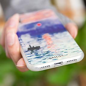 voordelige Galaxy S7 Edge Hoesjes / covers-hoesje Voor Samsung Galaxy S7 edge / S6 edge / S6 Stofbestendig / Ultradun / Patroon Achterkant Landschap Zacht TPU