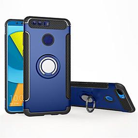voordelige Huawei Honor hoesjes / covers-hoesje Voor Huawei P8 Lite (2017) / Honor 8 / Eer 8X Schokbestendig / Ringhouder Achterkant Effen Zacht TPU