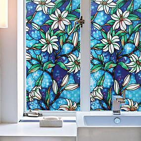 baratos Casa & Cozinha-filme de janela cor orquídea& adesivos decoração animal / estampados férias / personagem / geométrica pvc (policloreto de vinila) adesivo de janela