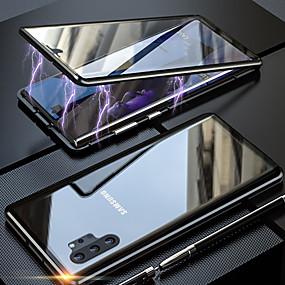 Недорогие Чехлы и кейсы для Galaxy Note 8-магнито-магнитный адсорбционный металлический стеклянный корпус для Samsung Galaxy Note 10 Pro Note 10 задняя крышка для Samsung Galaxy Note 9 Note 8