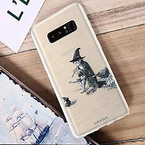 voordelige Galaxy S7 Edge Hoesjes / covers-hoesje Voor Samsung Galaxy S8 Plus / S8 / S7 edge Waterbestendig / Stofbestendig / Doorzichtig Achterkant Cartoon TPU