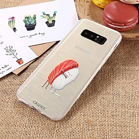 voordelige Galaxy S7 Edge Hoesjes / covers-hoesje Voor Samsung Galaxy S9 / S9 Plus / S8 Plus Waterbestendig / Stofbestendig / Doorzichtig Achterkant Voedsel TPU