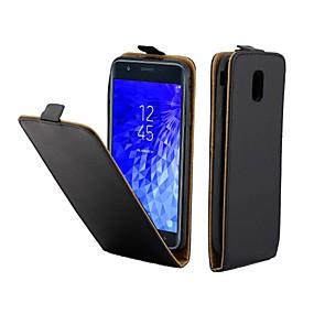 voordelige Galaxy J7(2017) Hoesjes / covers-hoesje Voor Samsung Galaxy J7 (2017) / J5 (2017) / J3 (2017) Kaarthouder / Flip Volledig hoesje Effen PU-nahka