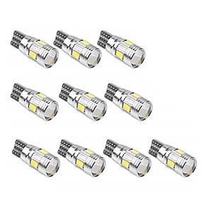 voordelige Auto-achterverlichting-10 stuks T10 Automatisch Lampen SMD 5630 6 LED Nummerplaatverlichting / Werklamp / Achterlicht Voor Universeel Alle jaren