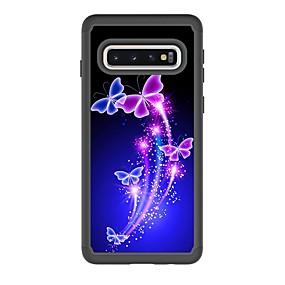 voordelige Galaxy S7 Hoesjes / covers-hoesje Voor Samsung Galaxy S9 / S9 Plus / S8 Plus Schokbestendig / Patroon Achterkant Vlinder PU-nahka