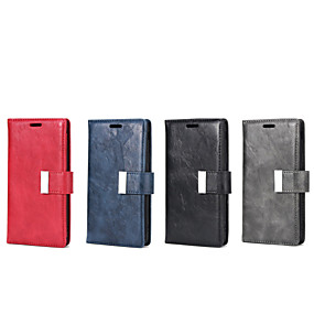voordelige Galaxy J3 Hoesjes / covers-hoesje Voor Samsung Galaxy J7 / J5 (2017) / J5 Portemonnee / Kaarthouder / met standaard Volledig hoesje Effen PU-nahka / TPU