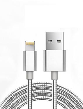 levne Prémiové značky-Apple Lightning / Osvětlení Adaptér kabelu USB Běžný / Pletený Kabel Pro iPhone 7 / iPhone 7 Plus / iPad 98 cm Pro hliník / Kov