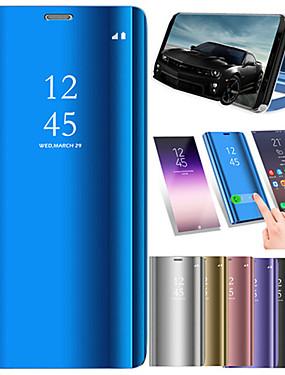 ieftine Carcase Mobil-Maska Pentru Huawei P smart Cu Stand / Placare / Oglindă Carcasă Telefon Mată Greu PU piele pentru P smart