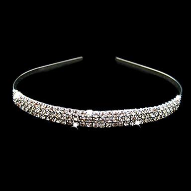 Kristal Kumaş alaşım - Tiaras Headbands 1 Düğün Özel Anlar Parti / Gece Başlık
