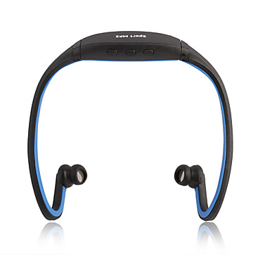 Hands-free Noise Cancellation Sports MP3 Player with 1GB Memory (Black-Blue)