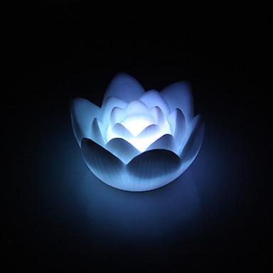 אור LED לילה מקסים לוטוס בצורת צבעונית (3xAG13)