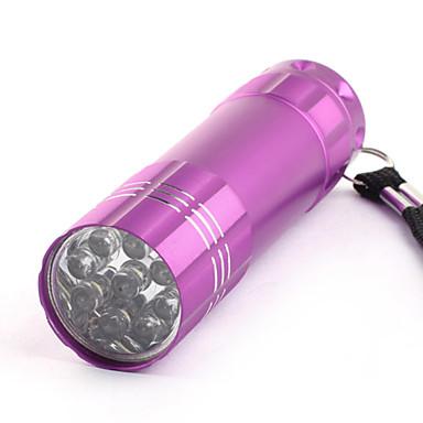 1-Mode Stainlee Steel 9-LED  Flashlight (3x10440/3xAAA, Purple)