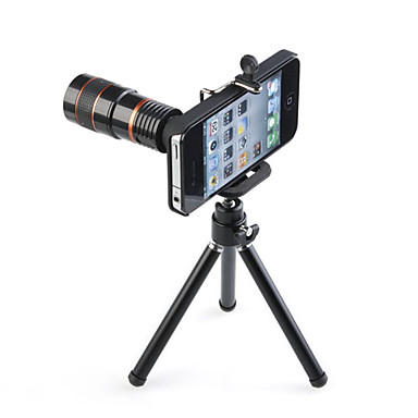 Telescope 8X Zoom Long Focal Lens Tripod for iPhone 4/4S
