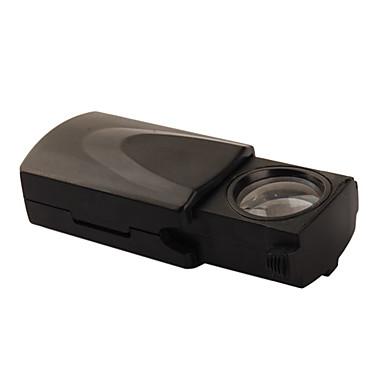 45x 21mm Juweliere Lupe / Vergrößerungsglas mit weißer LED-Beleuchtung (3 * LR1130)