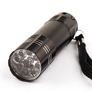 Um modo de aço inoxidável 9-lanterna LED (3x10440/3xaaa, preto)