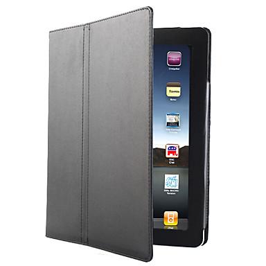 PU Leder Hülle und Ständer für iPad 2 (Schwarz)