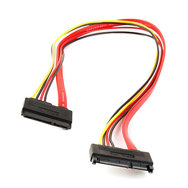 15+7 Pin SATA Male to Female M/F Data Power Cable Cord 50cm