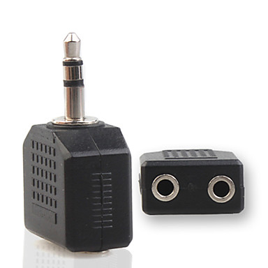 Two 2.5mm Female Audio Splitter to 3.5mm Male Jack Adapter