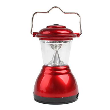 6 ledede håndbagasje lampe camping lys camping lampe 3xaaa rødt