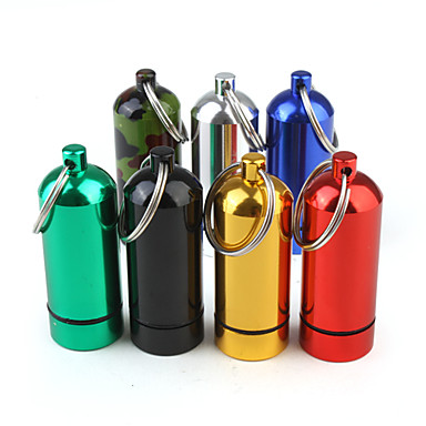 Travel Pill Box/Case Portable for Travel RestRed Green Blue Camouflage Color Golden