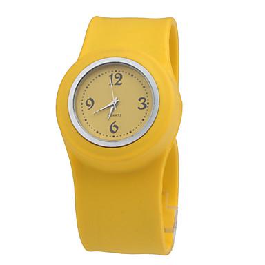 bambini impermeabile al quarzo cinturino dell'orologio nastro con banda gialla