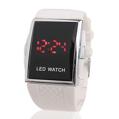 LED-ur med Rött Ljus och Silikonband (vit)