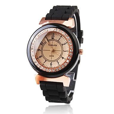 Women's Quartz Wrist Watch Japanese Casual Watch Plastic Band Sparkle Dress Watch Fashion Black
