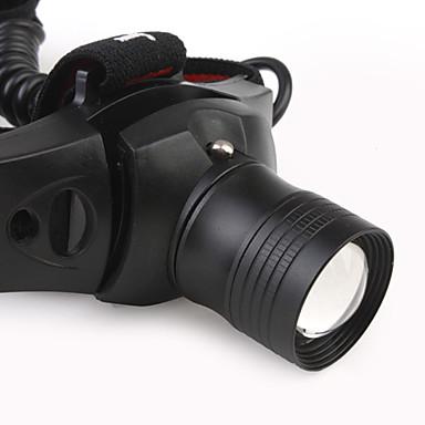 180lm 3-modus Cree XR-e Q5 LED fleksibel super lyse hodelykt (1 x 18650 batteri)