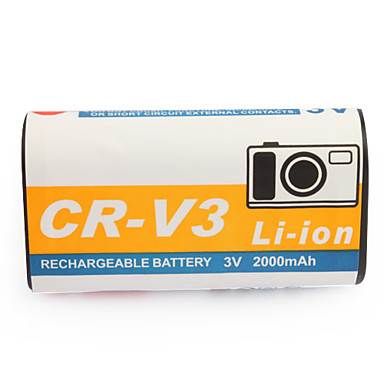 2000mAh batteria fotocamera RCR-V3 per casio gv-20, Kodak cx serie e più