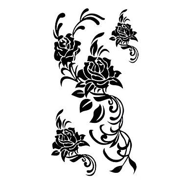Dövme Etiketleri Çiçek Serisi Temalı Waterproof Kadın Girl Genç flaş Dövme geçici Dövme