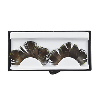 Gold Feathery Lashes for Party and Salon Studio Makeup