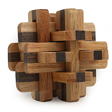 Magic Cube Wooden Puzzle IQ Brain Teaser Professional Level Speed Wooden 12pcs Classic & Timeless Boys' Gift