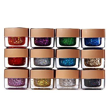 12 x Mix Colors Glitter UV Builder Gel Nail Art 8ml