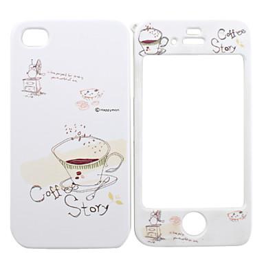 full body case voor de iPhone 4/4s - koffie verhaal