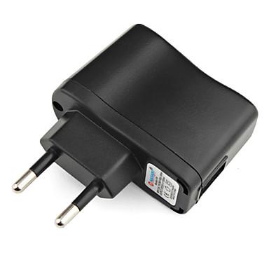 AC 100V-240V universal eu rejse AC oplader (sort)