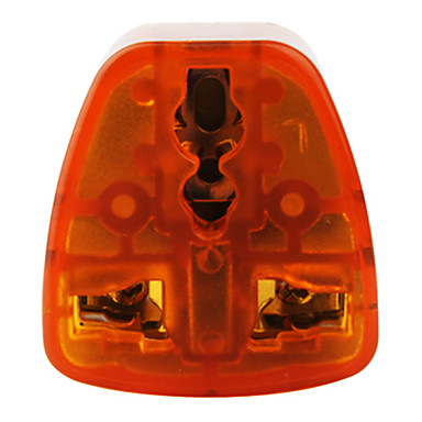 Universal Travel Adapter (10A-250V ,Orange and Gray)