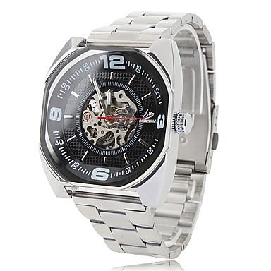 hommes montre-bracelet analogique alliage mécanique (argent)