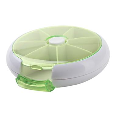 7Days Round Plastic Storage Box Pill-box(Ramdon Color)