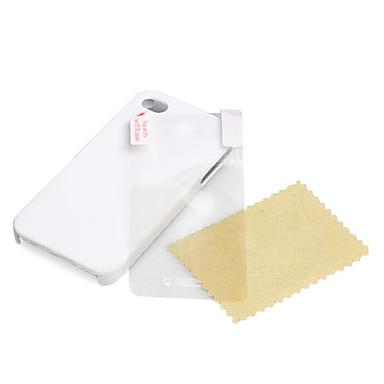ultra sottile copertura in gomma opaca custodia rigida per iPhone 4 e 4S con lo schermo di protezione (bianco)
