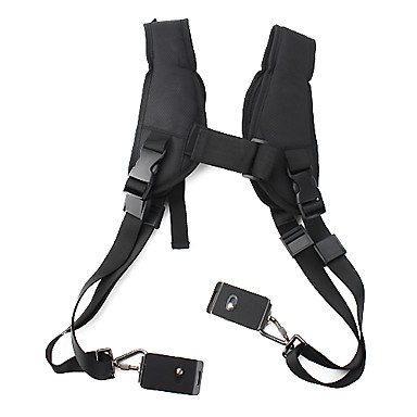 dslr kameralar için 2 metal kilitler ile hızlı çift omuz kemer kayışı