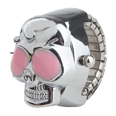 Жен. Часы-кольцо Японский Кварцевый Повседневные часы сплав Группа Череп Серебристый металл